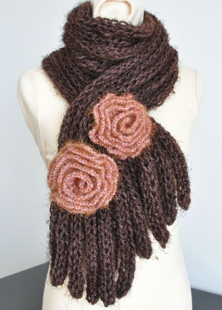 279 best images about Knitted flowers on Pinterest ...