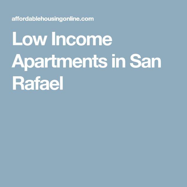 Low Income Apartments in San Rafael