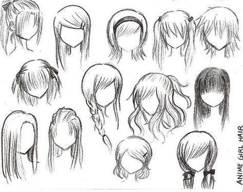 Exemple de coupe de cheveux pour vos personnage de manga
