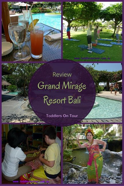 My review of the all-inclusive Grand Mirage Resort Bali for a family holiday to Bali with kids. http://toddlersontour.com.au/all-inclusive-grand-mirage-resort-review/