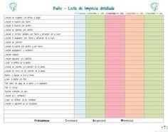 Imprimible: Lista De Limpieza Profunda Para El Baño