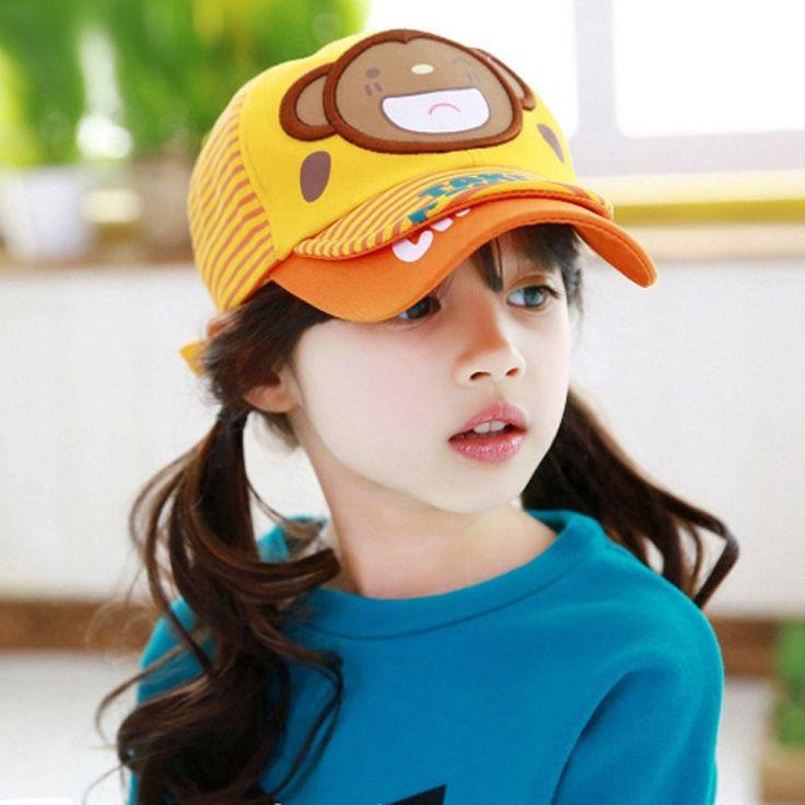 Шапки ребенка шапка новый ребенок шляпа улыбка медведь бейсболка кепка Snapback баскетбольная команда бейсболка дети летние шляпы классная девочка M021