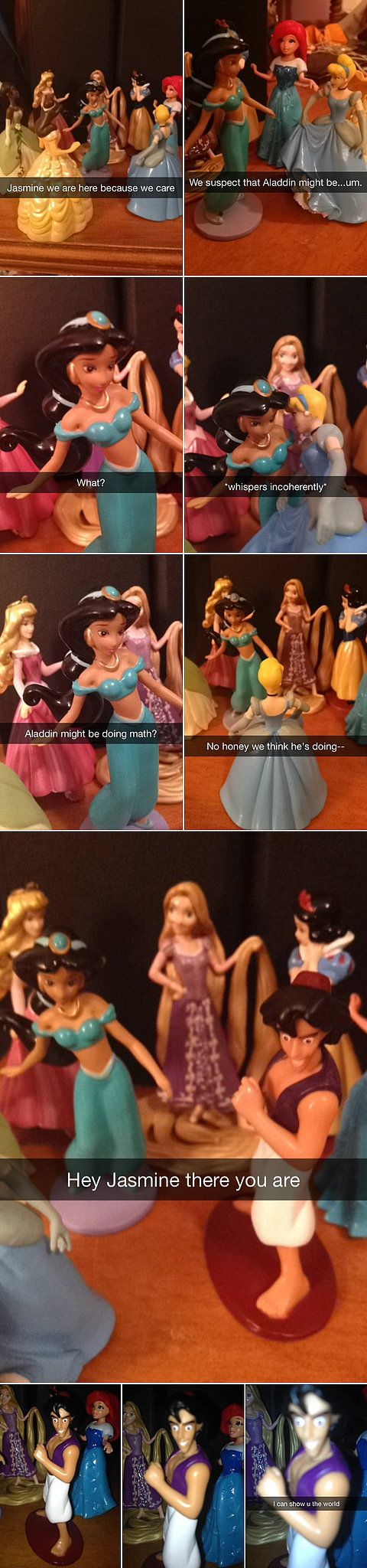 If Disney Princesses were on Snapchat, this is what it would look like: