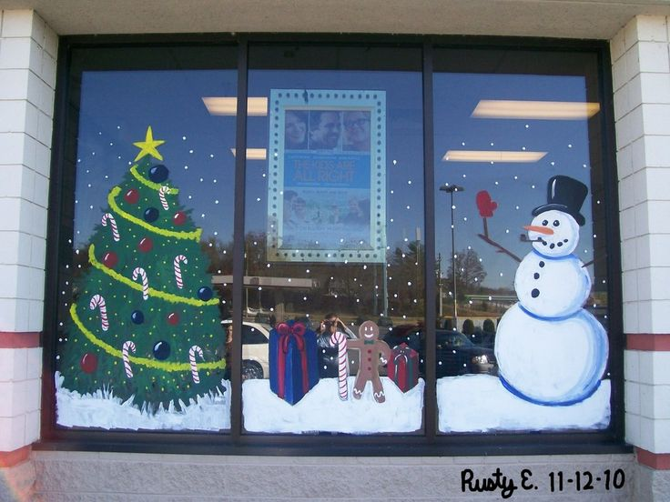 Holiday Window Painting Ideas | Christmas Mural Section 1 by djrustye on deviantART