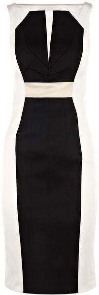 KAREN MILLEN ENGLAND Colourblock Dress