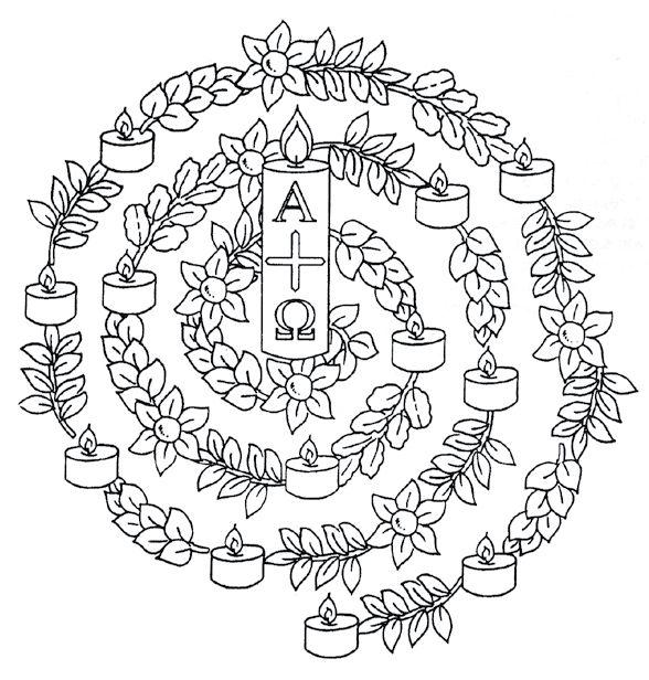 Mandala Ostern - Auferstehung - Osterkerze