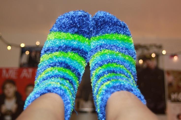 bright fuzzy socks. ♡