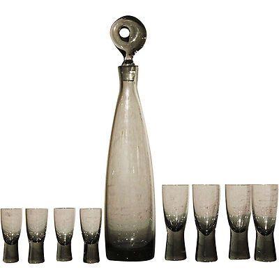 Aristokrat Decanter by Per Lutken for Holmegaard & 8 Canada Glasses