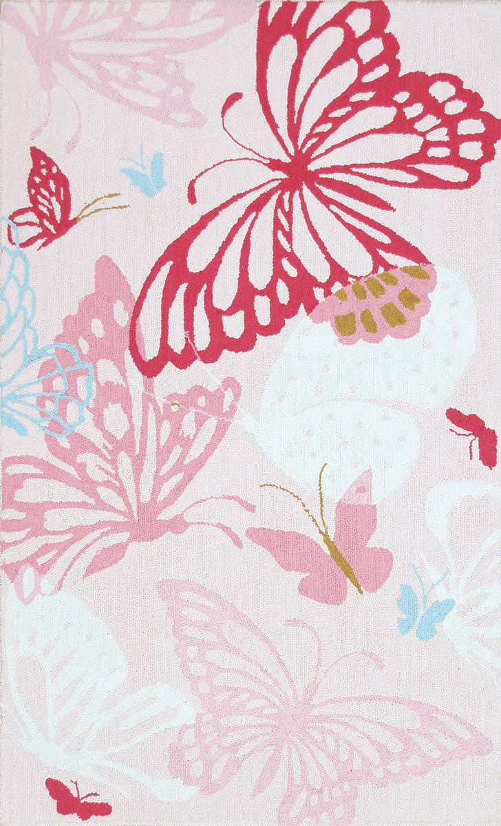 Yellow papillion lamp base by bungalow 5 rosenberryrooms com - Modernrugs Com Pink Butterflies Modern Kids Rug