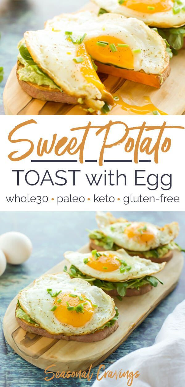 Sweet Potato Toast with Egg
