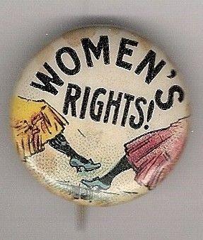 """Women's Rights!"" Tokio Cigarettes Suffrage Celluloid Pinback (1900)"