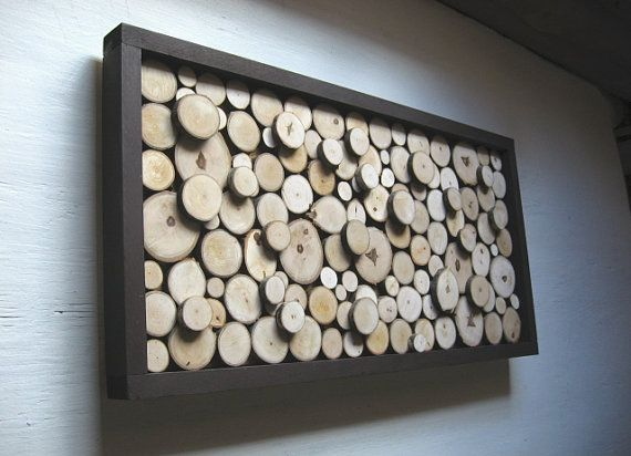 Rustic Wood Slice Sculpture 13x24 Made To By Rusticmoderndesigns 144 00 Diy Wall Arthome Decor