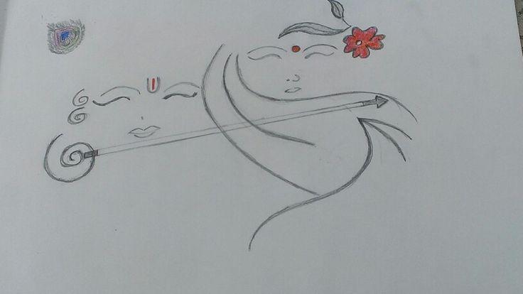 easy pencil sketching of radha krishna so simple n
