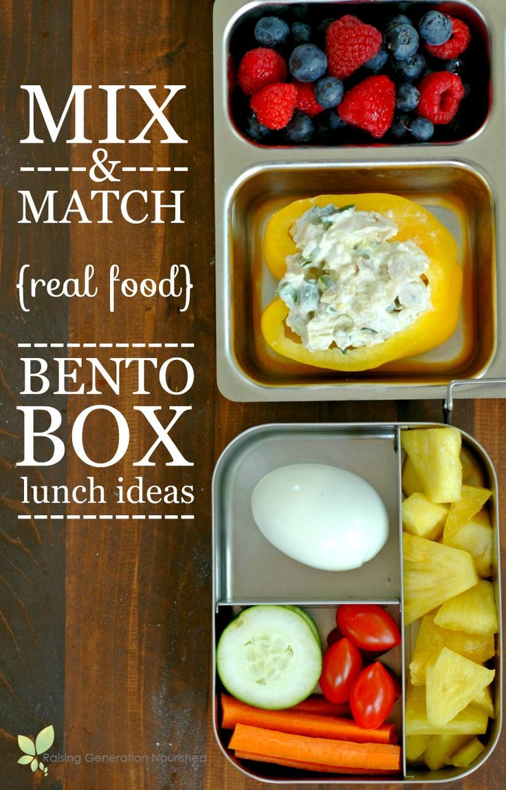 Mix & Match Real Food Packable Bento Box Lunch Ideas