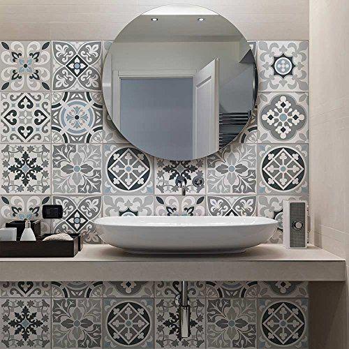 Excellent carrelage autocollant sticker adhsif carrelage salle de bain et credence cuisine - Stickers pour faience cuisine ...