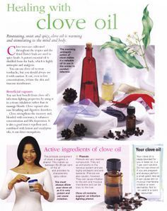 Healing Benefits of Clove Oil - I mix 5 drops clove oil and 5 drops oregano oil with 20 drops of olive oil for an incredibly effective toothache remedy (also works great when you've had wisdom teeth removed)