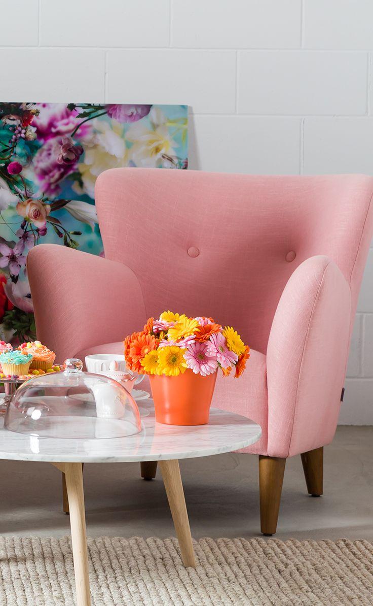 Happy Quartz Rose Armchair Retro Pastels Pinterest