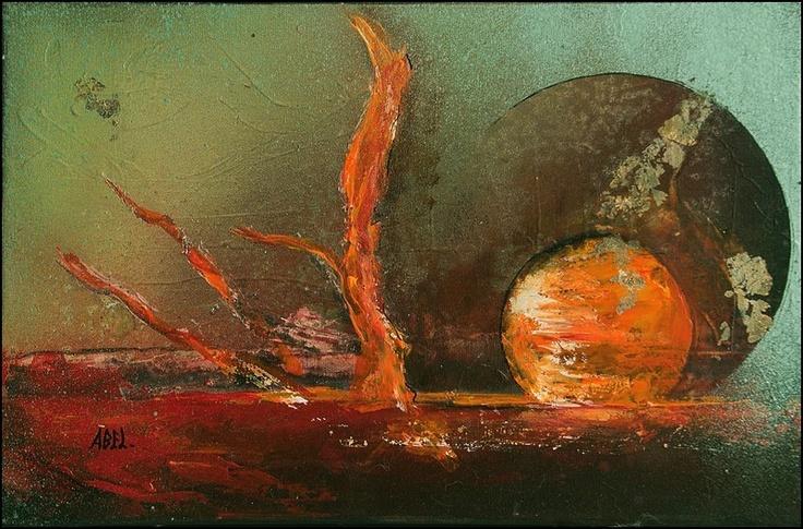 Œuvre Originale :  Artiste : Patricia Abel    Dimension : 41 X 27 cm
