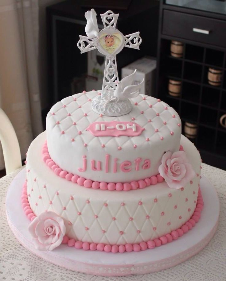 Torta para Bautizo de nena