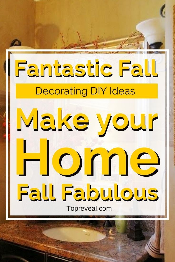 You can get that feeling inside your home too with our Fun & Fresh Fall Decorations DIY Guide. From simple, inexpensive ideas to decor tips and pumpkin collages we will show you all the ways you can transform your home into a fall wonderland! #diy #home #homedecor #homeimprovement #fall