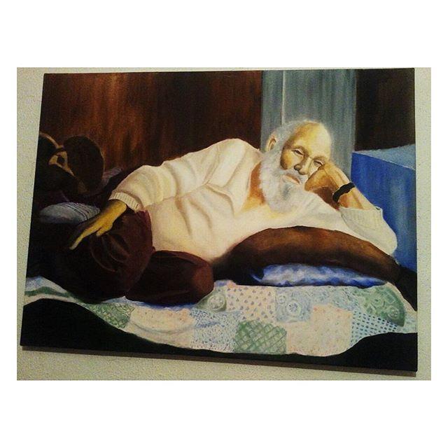 My grandfather 👴🏻 .. #oilpainting #oilpaint #yagliboya #yağlıboya #yağlıboyatablo #artistic #artistsofinstagram #artgallery  #arts #artstudio #artlovers #draw #drawing #drawsomething #draws #drawingart #drawingpencil #drawingpen #drawart #çizim #atölye #atolyekafasi #art #grandfather #meril #merilinatölyesi