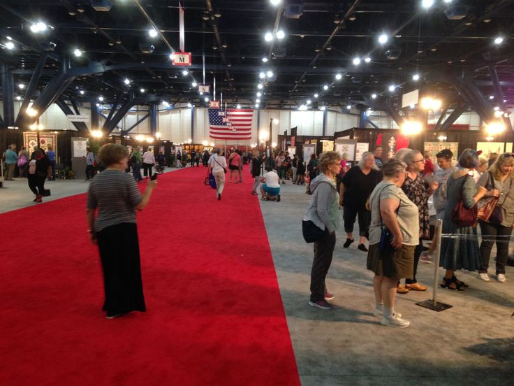 Great shot of only HALF of the exhibit hall.