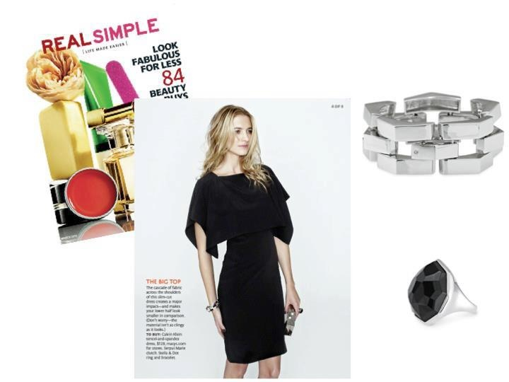 Ferbruary 2012 Real Simple Magazine Editor Picks- Our Garbo Bracelet and Nouvelle Ring (25% savings this month- only $36.75)  tinyurl.com/6wlx74m