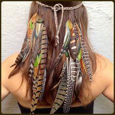 Stammes-Stirnband Feder Stirnband Hochzeit von ForestDwellerStudio