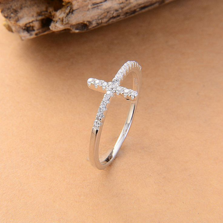 Christian Jewelry: Plated 925 Sterling Cross Rings for Her Women