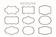Fancy Frames & Label Shapes - Objects - 1