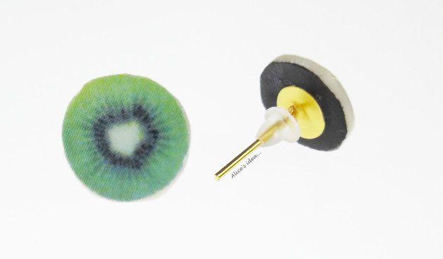 """Earrings ,,Kiwi""""... www.alicesidea.pl #earrings#kiwi ."""