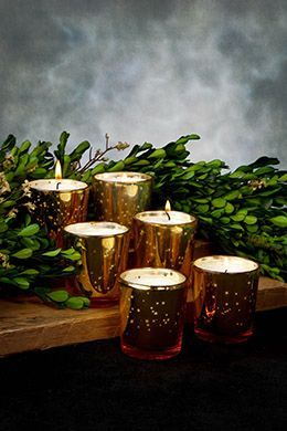 8.99 SALE PRICE! Bring warm, sparkling light to your home or venue with this set of six Mercury Glass Votive Holders. Place votives or tealights inside these...