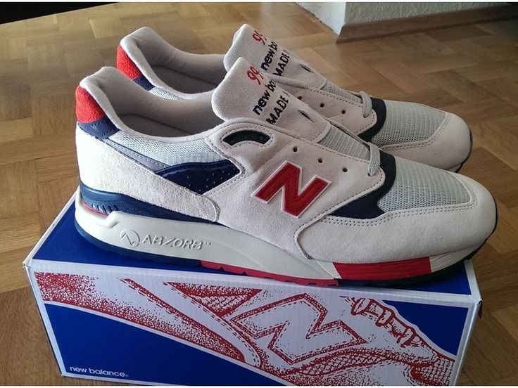 Latest 2015 New Balance 998 Grey Red Blue Womens Sneakers