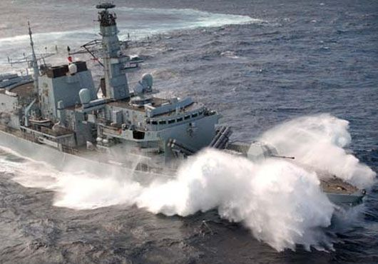 Royal Navy Type 23 frigate HMS Montrose is going to join Danish, Norwegian, Russian and Chinese warships in the eastern Mediterranean within the framework of the international operation to remove chemical weapons from Syria.The frigate will provide maritime force protection to the Danish and Norwegian merchant vessels that will transport industrial-grade chemicals out of Syria for destruction.