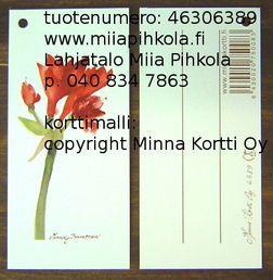 Minna Immonen gift card: amaryllis / Minna Immosen pakettikortti: amaryllis