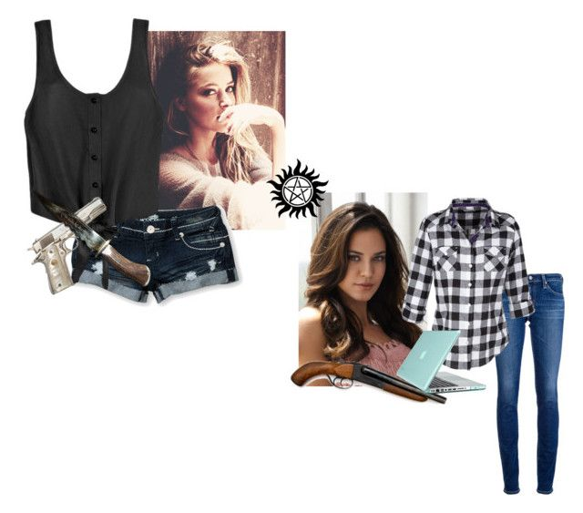 Deanna and Samantha Winchester by mrs-sharman on Polyvore featuring Almost Famous, AG Adriano Goldschmied, Speck and Odette