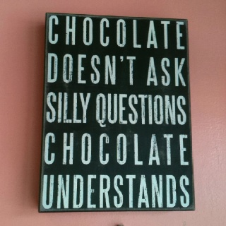 reminds me of @Aileen Adams, only friend i ever had that would raid my pantry for chocolate, i nearly always had some for her.  love her. miss her.
