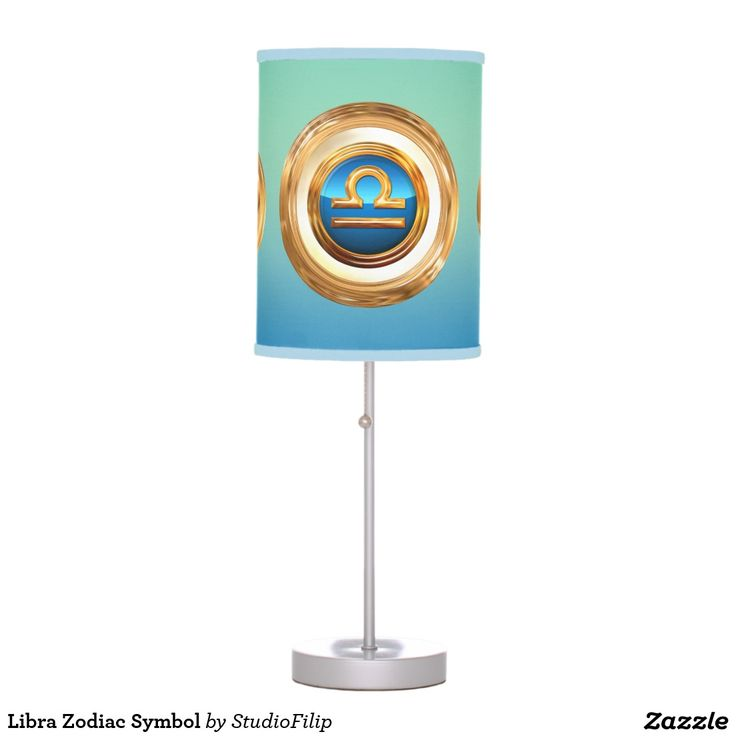 Libra Zodiac Symbol Table Lamps | 30% OFF Spooktacular Essentials: coasters, favor boxes, wine charms, serving trays, posters, tablecloths, table runners, plates, platters, packs of cake pops, packs of cookies, chocolate boxes, frosting rounds, invitations, greeting cards, photo cards, postcards, and/or cheese boards - USE Code ZSPOOKYSCARY | 15% Off All Other Zazzle Products. | Valid through October 8, 2015 at 12:59:59 PM PT