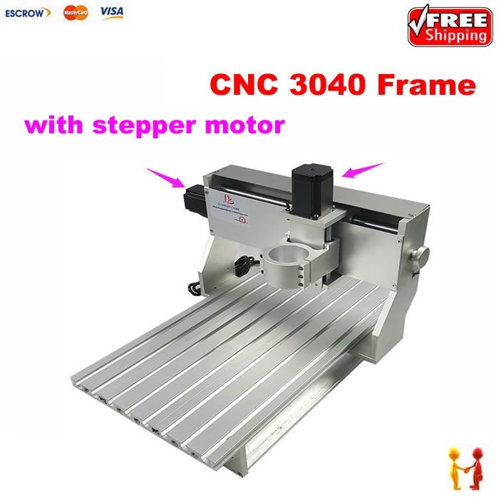 665.00$  Watch now - http://ai82v.worlditems.win/all/product.php?id=32765502115 - Hot sale CNC Milling Machine aluminum spare parts 3040 CNC frame router kit With stepper motor and limit switch