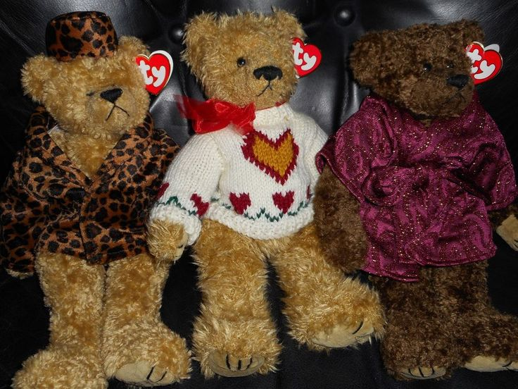 Vintage Ty Bears The Attic Treasures Collection Isabella Heartley Tyrone W/Tags #Ty