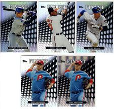 2013 Topps Finest Baseball Refractor 5 Card Lot - Roy Halladay, Carlos Gonzalez