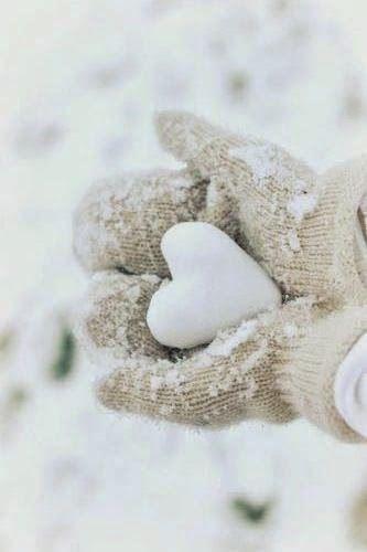 Snow heart.                                                       …                                                                                                                                                                                 More