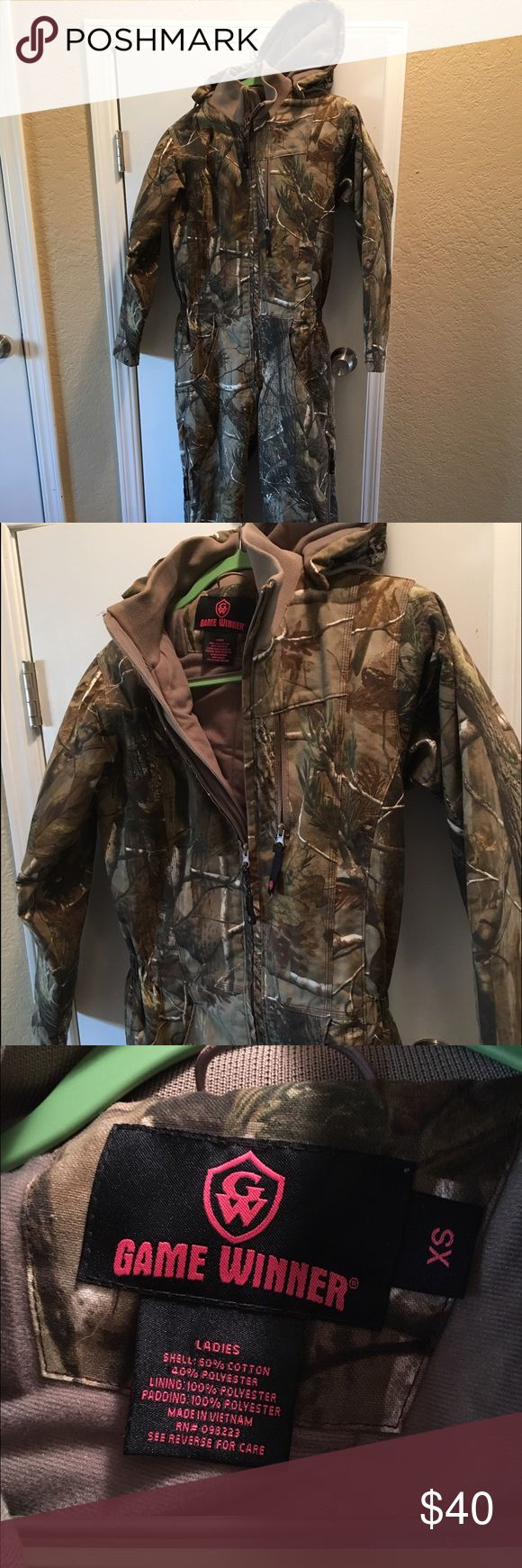 Game Winner Insulated Coveralls Stay warm even when he drags you duck hunting! Insulated coveralls that keep the wind out too. The legs have side zips and the waist is cinched so you can still feel cute (and warm) while you sit there waiting for ducks to appear. Jackets & Coats