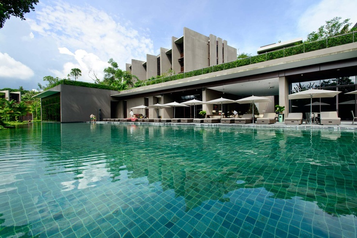 The private swimming pool only for The Club at Capella Singapore's residents.    #Capella #Singapore #Resort #Living #Luxury #Sentosa #Serviced #Residences #Apartments #Property #Real #Estate