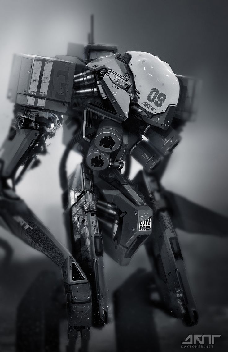 MACH 9 on Behance by DAYTONER .More robots here.