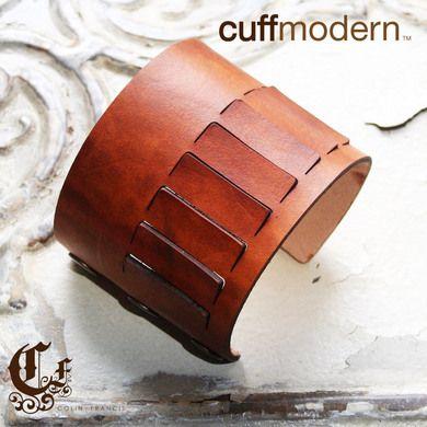 venting...laser cut leather cuff bracelet