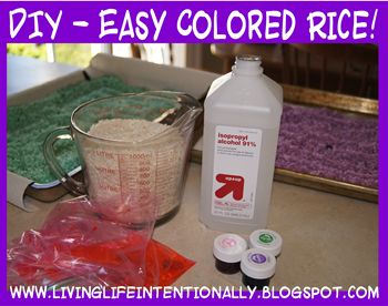 SUPER easy Tutorial - Colored Rice!