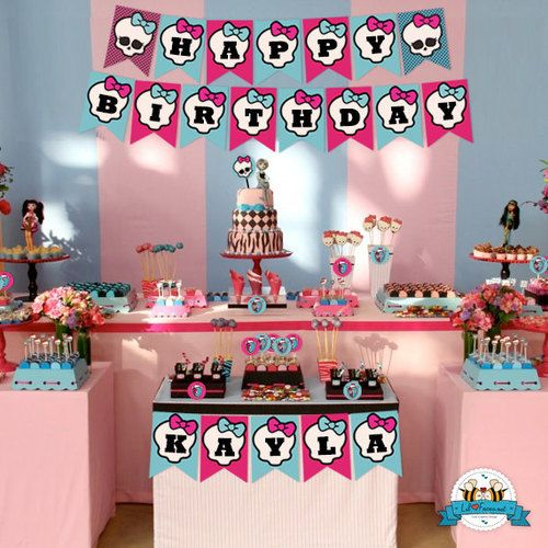 Monster High Birthday Party Birthday Party Printable Decorations - Monster High Birthday Party Printable DIY Decorations - Personalized Invite card DIY party printables will save you time and money while making your planning a snap!