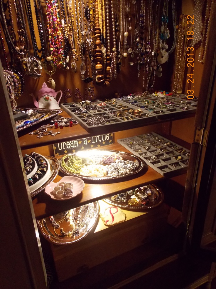 China cabinet turned jewelry cabinet View 2 of 3. With under ...