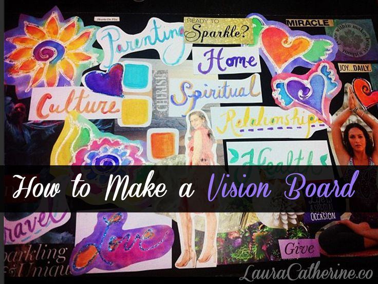 How to Make a Vision Board: Good activity for building self-concept and motivation for future with teens and pre-teens.